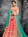 image of Designer Function Wear Art Silk Traditional Embroidered Lehenga Choli In Pink