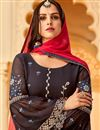 photo of Function Wear Black Designer Embroidered Georgette Palazzo Dress