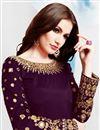 photo of Purple Festive Wear Fancy Embroidered Patiala Suit In Taffeta Silk