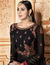 photo of Georgette Fabric Black Color Function Wear Embroidered Anarkali Suit