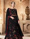 image of Georgette Fabric Black Color Function Wear Embroidered Anarkali Suit