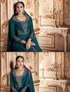 photo of Occasion Wear Georgette Fabric Embroidered Anarkali Salwar Kameez In Teal Color