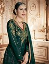photo of Dark Green Color Georgette Fabric Sangeet Wear Anarkali Suit With Embroidery Work