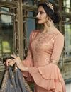 photo of Designer Peach Color Function Wear Palazzo Suit In Viscose Fabric