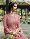 photo of Pink Color Designer Function Wear Viscose Fabric Palazzo Dress