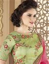 photo of Embroidered Peach Designer Saree In Fancy Fabric With Party Wear Blouse