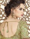 picture of Brown Fancy Fabric Party Wear Embroidered Saree With Designer Blouse