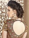 picture of Rust Embroidery Work On Fancy Fabric Function Wear Saree With Blouse