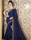 image of Navy Blue Fancy Fabric Function Wear Saree With Embroidery Work