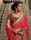 photo of Pink Silk Saree with Silk Blouse