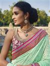 picture of Pink Wedding Wear Embroidered Bemberg Saree