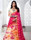 image of Embroidery Work On Multicolor Party Wear Lehenga Choli In Art Silk Fabric