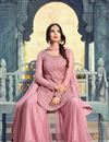 photo of Wedding Special Sonal Chauhan Pink Embroidered Net Festive Wear Palazzo Suit