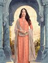 image of Sonal Chauhan Salmon Color Georgette Function Wear Embroidered Salwar Kameez