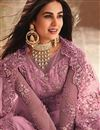 photo of Sonal Chauhan Embroidered Net Fabric Designer Pink Color Anarkali