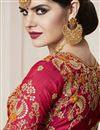 photo of Art Silk Red Color Wedding Wear Saree With Weaving Work