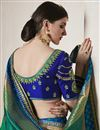 photo of Weaving Designs On Art Silk Teal Party Wear Saree