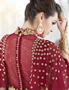 photo of Featuring Embroidered Red Designer Anarkali Suit In Georgette Fabric