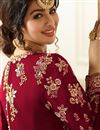 picture of Wedding Special Ayesha Takia Maroon Georgette Embroidered Floor Length Anarkali Dress