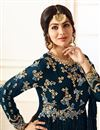 photo of Ayesha Takia Embellished Dark Grey Long Anarkali Dress In Georgette