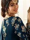 picture of Ayesha Takia Embellished Dark Grey Long Anarkali Dress In Georgette