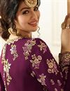 picture of Wedding Special Ayesha Takia Long Floor Length Embellished Anarkali Dress In Burgundy Color