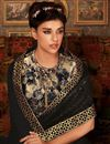 photo of Charming Fancy Designer Saree In Black Color