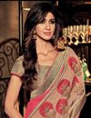 photo of Designer Party Wear Pink Color Saree With Embroidery Work