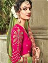 photo of Embroidered Designer Green Color Georgette And Satin Party Wear Saree