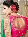 photo of Georgette And Satin Green Color Embroidered Saree With Dhupion Silk Blouse