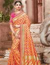 image of Art Silk Traditional Function Wear Fancy Saree In Orange