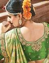 photo of Traditional Art Silk Green Saree For Wedding Functions