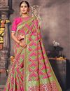 image of Function Wear Pink Traditional Saree In Art Silk
