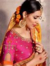 photo of Designer Orange Art Silk Fabric Fancy Saree For Functions