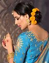 photo of Sky Blue Traditional Function Wear Fancy Saree In Art Silk