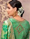 photo of Wedding Special Designer Green Fancy Saree For Functions In Art Silk