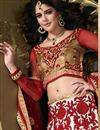 photo of Designer Cream Color Bridal Lehenga Choli