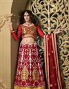 image of Designer Cream Color Bridal Lehenga Choli