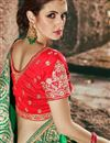 photo of Embellished Art Silk And Satin Green Fancy Saree With Heavy Blouse