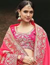 photo of Peach Embroidered Function Wear Art Silk And Satin Saree With Fancy Blouse