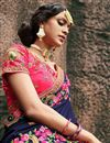 photo of Art Silk Navy Blue Embellished Fancy Saree With Heavy Blouse