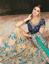 photo of Beige Wedding Function Wear Art Silk Saree With Heavy Blouse