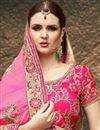 photo of Magenta Georgette Embroidered Designer Saree With Fancy Blouse