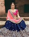 photo of Art Silk And Satin Navy Blue Embellished Fancy Saree With Heavy Blouse