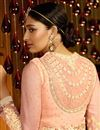 picture of Peach Georgette Salwar Kameez with Embroidery