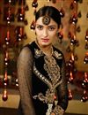 picture of Black Designer Georgette Salwar Suit with Work