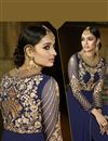 photo of Designer Navy Blue Color Long Length Georgette Salwar kameez