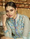 photo of Sky Blue Color Long Length Designer Georgette Salwar Suit