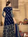 photo of Mesmerizing Blue Color Festive Wear Anarkali Salwar Suit With Embroidery Work
