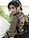 picture of Black Color Embroidered Palazzo Salwar Kameez In Georgette Fabric